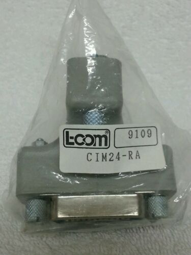 NOS L-COM Male//Female CIM24-RA Adapter