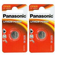 2x Cr1620 Panasonic Batterien Lithium Cr 1620 - Knopfzellen Für Autoschlüssel