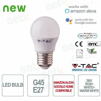 4.5W Smart Lampadine WiFi Compatibile con Alexa e Google Home =50W Bianco Caldo Nessun Hub Richiesto Luce Dimmerabile RGB LE Alexa Lampadina LED GU10 Intelligente RGBW 4 Pezzi