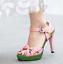 Women/'s Buckle Strap Slingbacks Peep Toe Platform Pineapple Stiletto Heel Shoes