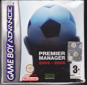 Game-Boy-Advance-GBA-PREMIER-MANAGER-2004-2005-completo-come-nuovo-italiano