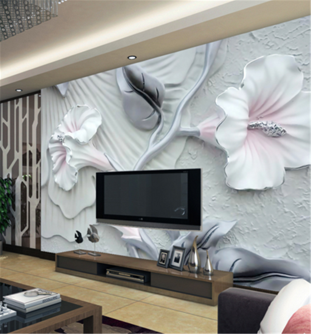 3D Flowers Leaves 89 Wallpaper Mural Paper Wall Print Wallpaper Murals UK Carly