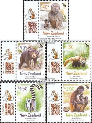 New Zealand 2143a-2147a complete.issue. Never Hinged 2004 Yea Moderate Cost Unmounted Mint
