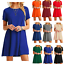 Women-039-s-Casual-Short-Sleeve-Solid-Loose-Tunic-Top-Shirt-Blouse-Dress-Plus-Size thumbnail 1