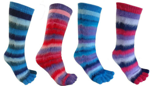 12 PAIRS OF GIRLS KIDS STRIPED SOFT TOE SOCKS UK 12.5-3.5 JOB LOT MIXED COLOURS