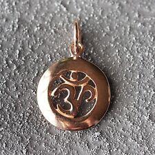 NEU 925 Silber ANHÄNGER Farbe rosegold OM Zeichen KETTENANHÄNGER Aum AOM Buddha
