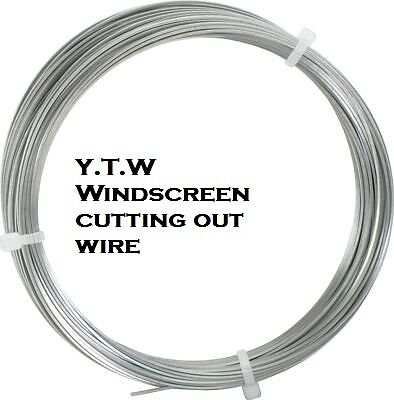 SQUARE WINDSCREEN CUTTING OUT WIRE BONDED WINDOW 0.6mm x 10M