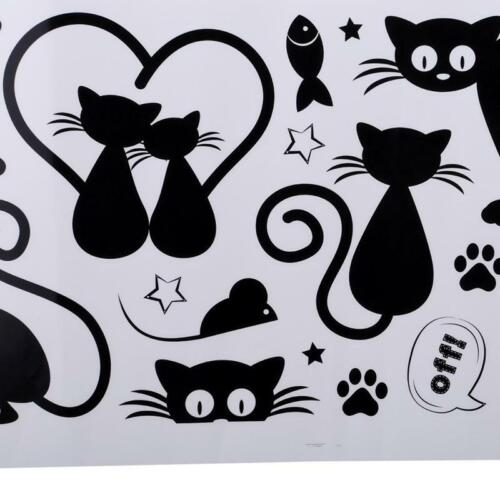 Lovely Cat Light Switch Phone Wall Stickers For Kids Rooms Home Decoration AA