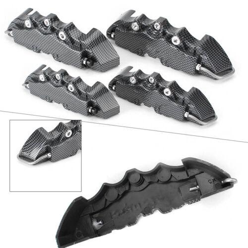 "Disc Brake Caliper Cover 3D Set Front Rear for 14/""-17 /"" Wheels Carbon Fiber Look"