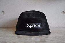 Supreme Suede Box Logo Camp Cap - Black