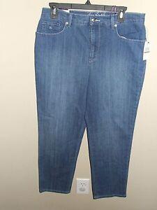 6a8476e18c2 Image is loading NWT-Gloria-Vanderbilt-12S-Amanda-Jeans-Embellished-Seaside-