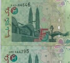 Ali center Rm5 banknotes Prefixes AA & AM ( 1st and last prefix) nice