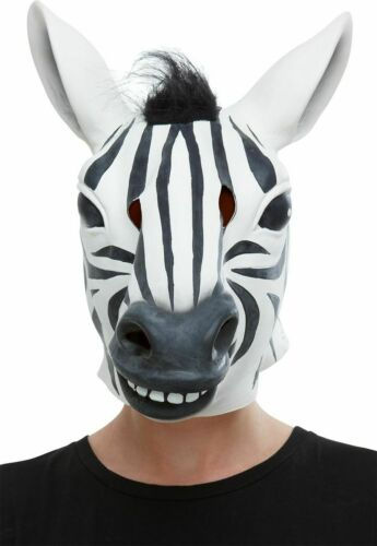 Deluxe Adulte Animal Masques homme femme robe fantaisie Latex Masque Zoo Animal