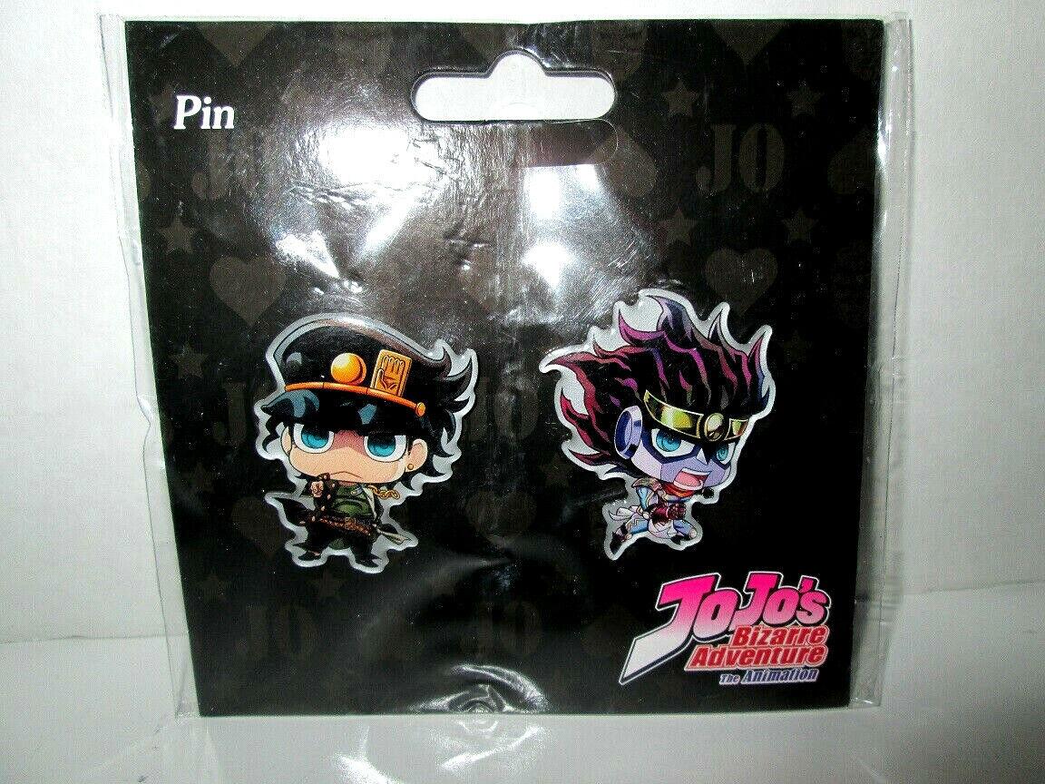 **Legit** JoJo Advanture SD Iggy /& Joseph Joestar Authentic Anime Pin Set #50599