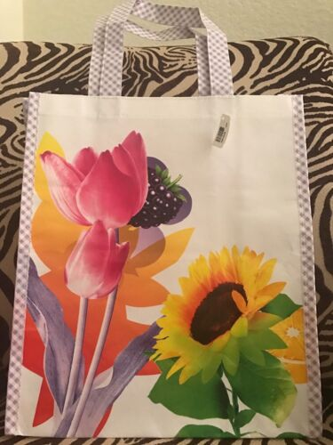 Bath /& Body Works Spring Floral Reusable Grocery Ecology Tote Bag NWT