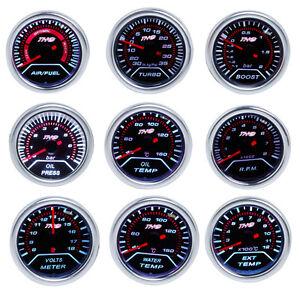 2-034-52mm-LED-Car-Boost-AFR-EGT-Water-Oil-Temp-Pressure-Volt-Tachometer-Guage