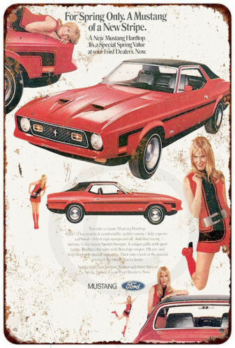 1971 Ford Mustang Vintage Look reproduction Metal sign 8 x 12