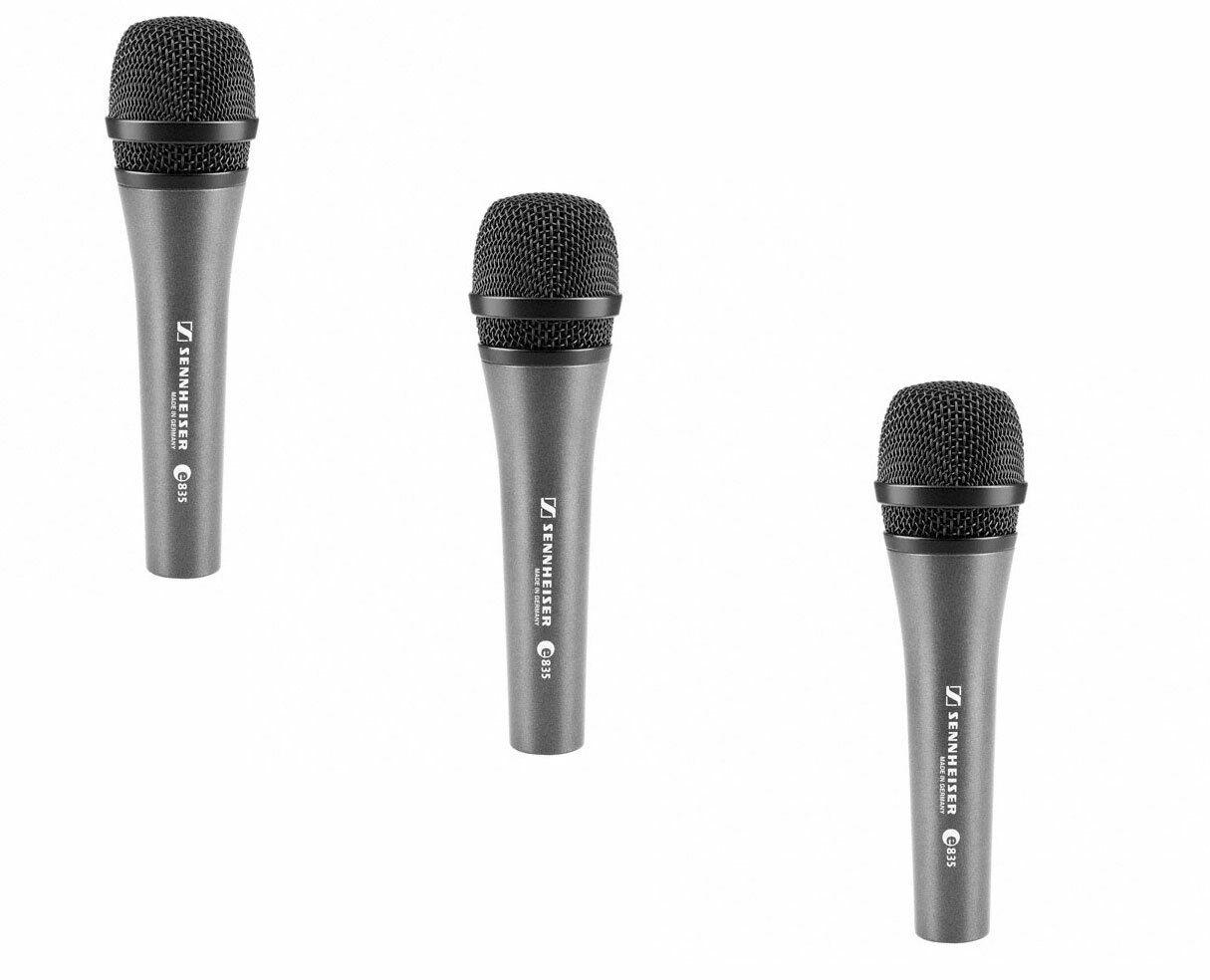 Sennheiser e 835 3-Pack Dynamic Cardioid Vocal Microphone PROAUDIOSTAR
