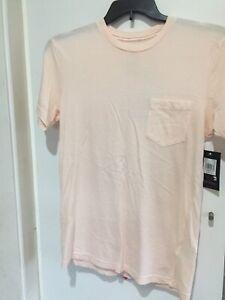 Rvca-VA-PTC-Pigment-Dye-SMALL-Men-s-NWT-Pink-Slim-Fit-Pocket-T-Shirt