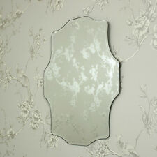 Decorative bevelled vintage wall mirror shabby French chic girls bedroom hall