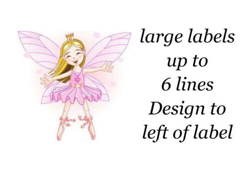Pink fairy 130 petites ou 48 grandes collant des étiquettes autocollants Papier Blanc NEUF