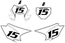 2015-2017 HONDA CRF150F Custom PrePrinted White Backgrounds Black Pinstripe