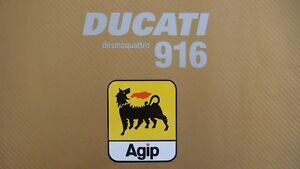 Ducati 916 AGIP Kit for Track bike or road fairing Decals Stickers #47A