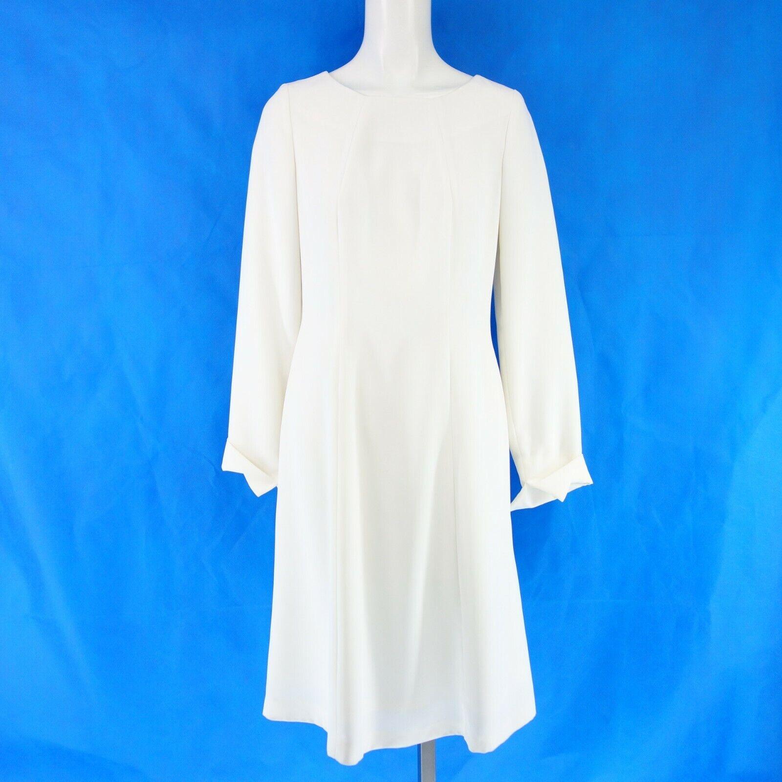 BETTINA SCHOENBACH Damen Kleid Gr 34 36 Weiß Schwingend A Linie Festlich NEU