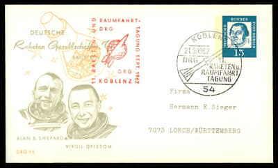 Berlin Privat-ga 1962 Weltraum Space Drg 15 Deutsche Raketen Gesellschaft Ep23 Verpackung Der Nominierten Marke