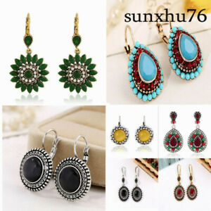 New-Women-Fashion-Vintage-Multicolor-Earrings-Bohemian-Round-Ethnic-Boho