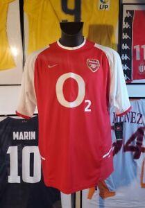 Maillot jersey maglia camiseta trikot shirt arsenal 2002 2003 2004 neuf new XL