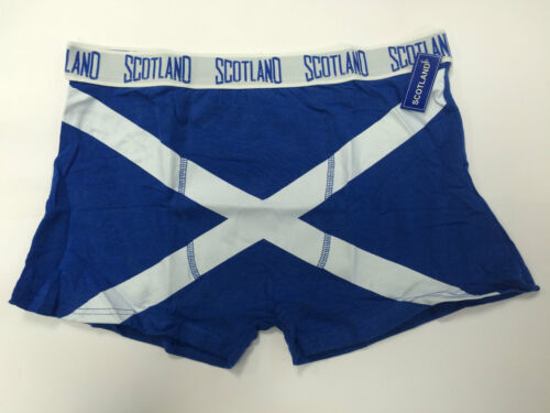 Da Uomo Morbido Cotone Saltire scozzese BOXER Nuovissimo Con Etichette