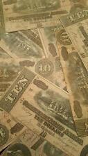 1864 CIVIL WAR CONFEDERATE MONEY $10 TEN DOLLAR NOTE BILL RICHMOND VA