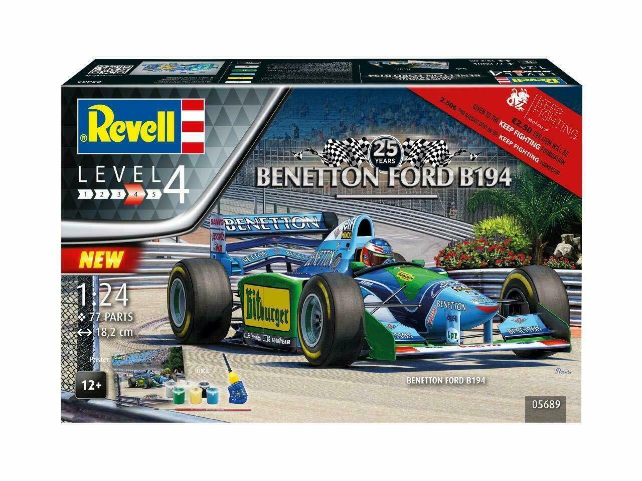 Gift Set 25Th Anniversary Benetton Ford Kit REVELL 1 24 RV05689 Modelbau
