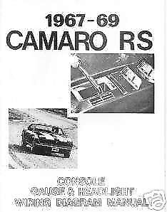 1967 1968 1969 Chevrolet Camaro RS Wiring Diagram Manua   eBay