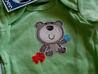 Three Infant Boy's Size 0 To 3 Month Short Sleeve Onesies With Tags