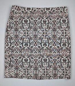 294fcdf892 Merona Stretch Lined Animal Print Straight Skirt w/Pockets - Size ...