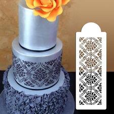 Plastic Cookie Cake Stencil Fondant Tool Decoration for Cake Wedding Flower CJ