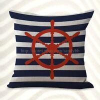 Us Seller-helm Ship Wheels Sailing Cushion Cover Cheap Cute Pillows