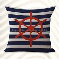 Us Seller-helm Ship Wheels Sailing Cushion Cover Cheap Cute Pillows