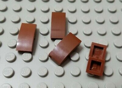 LEGO Lot of 4 Tan 2x1x3 Roof Slope Pieces