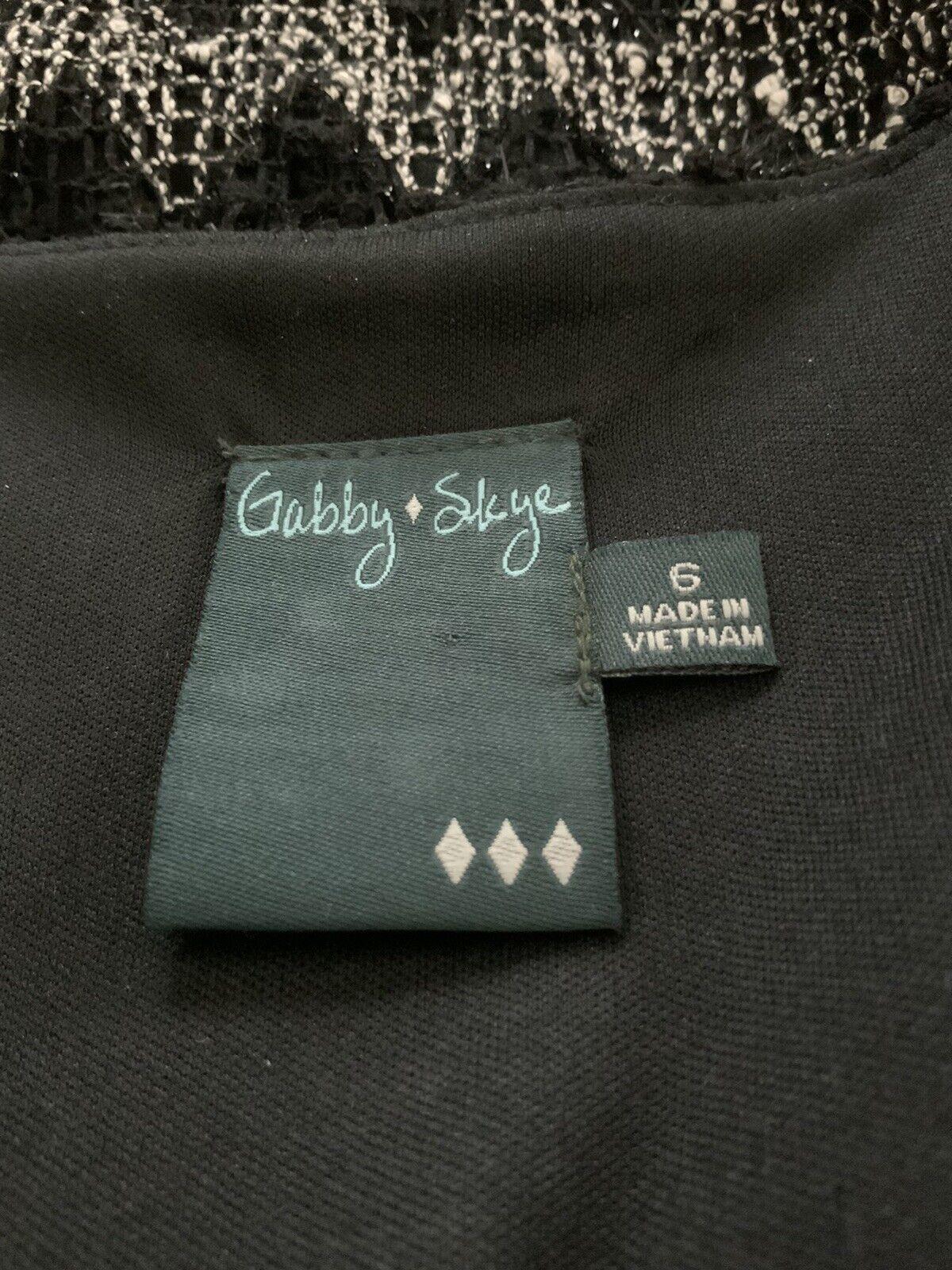 Gabby Skye Dress Size 6 Black & White Lace Shell … - image 4
