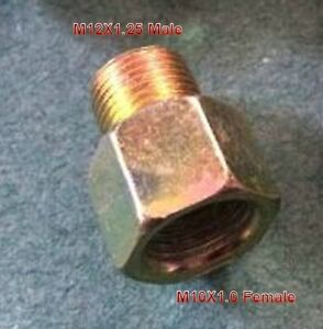 Stainless Steel Male Flare 3 AN to M10 x 1.25 Male Metric Thread Pipe Fuel Fitting Adapter