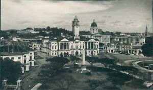 Postcard-Singapore-1949-View-Of-Municipal-Buildings-Real-photo-Unposted