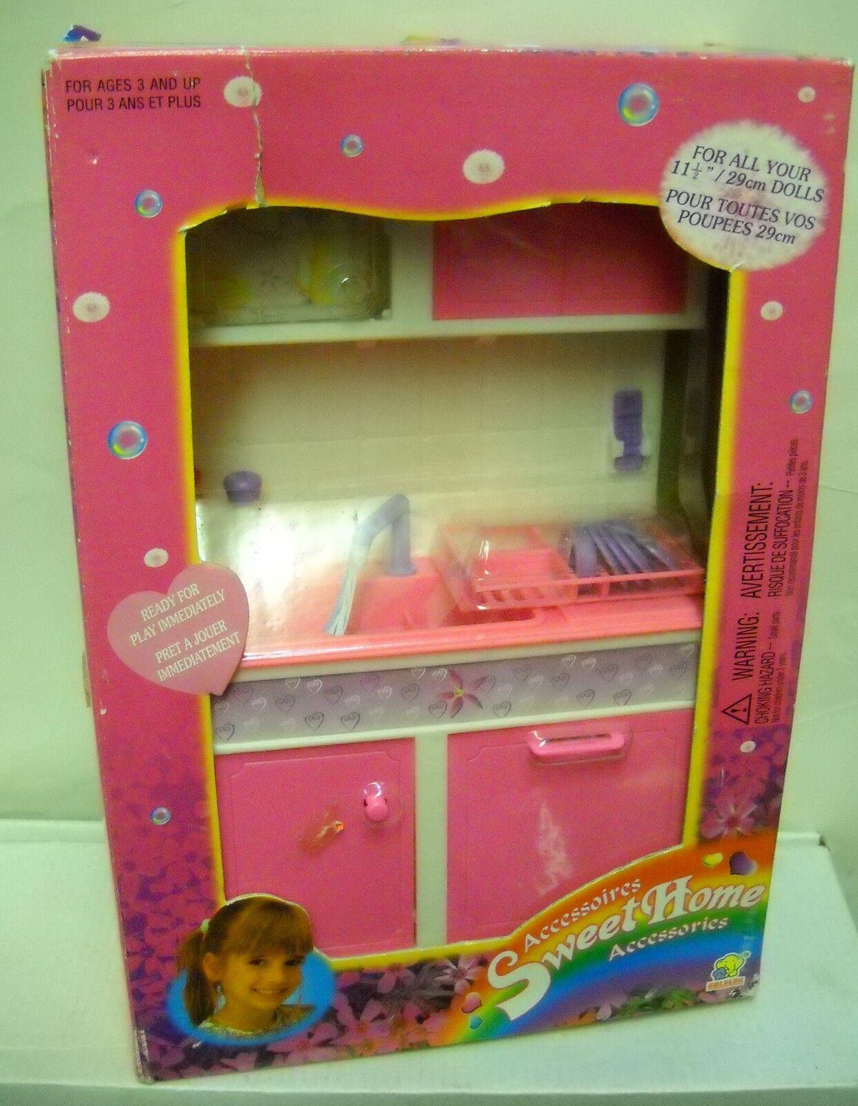 Nunca quitado de la Caja Vintage orolok Barbie Talla Dulce Hogar Accesorios fregadero