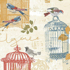 "12""/31cm Wallpaper SAMPLE French Country Bird & Birdcage KE29945"