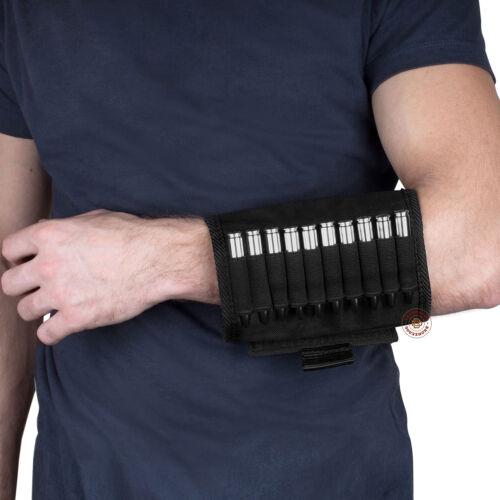 Bolsa de Munición Cartucho de banda de brazo portador Caza De Nylon Negro 12 GA//30-30.