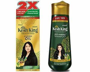 Kesh King Ayurvedic Scalp & Hair Oil, 300ml & Anti Hairfall Shampoo, 340ml Combo