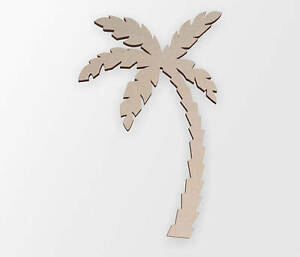 Details About Wooden Shape Palm Tree Cut Out Wall Art Home Decor Hanging