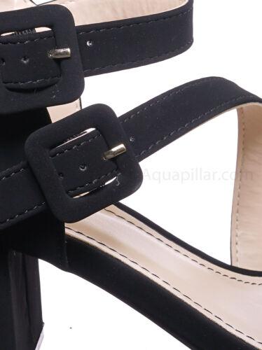 Buckle Chunky Block Heeled Highlight68 Kitten Heel Open Toe Sandal